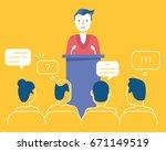 vector flat linear illustration ...   Shutterstock .eps vector #671149519