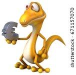 fun lizard | Shutterstock . vector #671157070