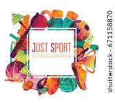 color sport background.... | Shutterstock .eps vector #671158870