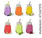 set of different tastes...   Shutterstock .eps vector #671167570
