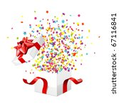 open explore gift with fly... | Shutterstock .eps vector #67116841