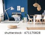 multifunctional living space in ...   Shutterstock . vector #671170828