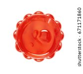 strawberry jelly isolated on... | Shutterstock . vector #671171860