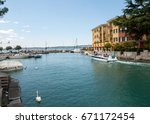 sirmione  italy   may 5  2016 ... | Shutterstock . vector #671172454