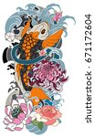 tattoo for arm and body paint.... | Shutterstock .eps vector #671172604