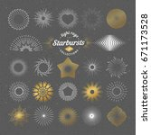 set of vector starbursts.... | Shutterstock .eps vector #671173528