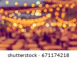 vintage tone blur image of food ...   Shutterstock . vector #671174218
