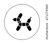balloon animal   Shutterstock .eps vector #671174560