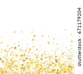 gold stars on a white... | Shutterstock .eps vector #671179204