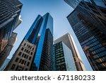 high skyscrapers in manhattan | Shutterstock . vector #671180233
