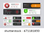 set of horizontal web banners... | Shutterstock .eps vector #671181850