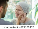 young sick woman feeling better ... | Shutterstock . vector #671185198
