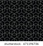 seamless geometric line grid... | Shutterstock .eps vector #671196736