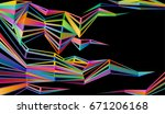 abstract geometric background... | Shutterstock .eps vector #671206168