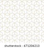 seamless geometric line grid... | Shutterstock .eps vector #671206213