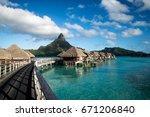 beach bungalows   Shutterstock . vector #671206840