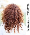 girl with red curly hair | Shutterstock . vector #671207728