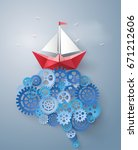 concept of leader vision and... | Shutterstock .eps vector #671212606