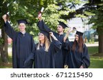 education  graduation and... | Shutterstock . vector #671215450
