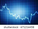 stock market graph and bar... | Shutterstock . vector #671216458