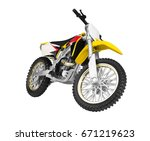 toy motorbike isolated on white ...   Shutterstock . vector #671219623