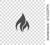 fire vector icon. flame | Shutterstock .eps vector #671222974