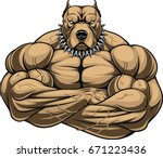 vector illustration of a strong ... | Shutterstock .eps vector #671223436