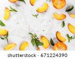 summer refreshing cocktails ...   Shutterstock . vector #671224390