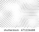 abstract halftone dotted... | Shutterstock .eps vector #671226688