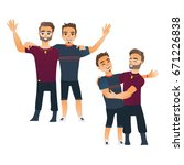 male friendship concept two... | Shutterstock .eps vector #671226838