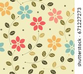 childish seamless pattern with... | Shutterstock .eps vector #671227273