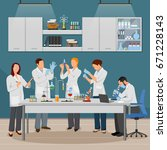 science and laboratory... | Shutterstock .eps vector #671228143