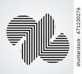 circle logo with lines.square... | Shutterstock .eps vector #671230276