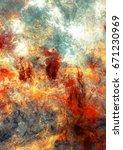 bright artistic splashes.... | Shutterstock . vector #671230969