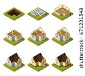 visualization of modern... | Shutterstock .eps vector #671231548