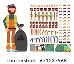 sanitation worker vector man... | Shutterstock .eps vector #671237968