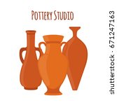 Pottery Studio Label  Logo With ...