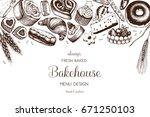 vector card design with ink... | Shutterstock .eps vector #671250103