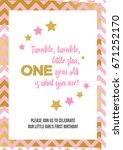 twinkle  twinkle  little star ... | Shutterstock .eps vector #671252170