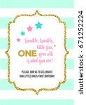 twinkle  twinkle  little star ... | Shutterstock .eps vector #671252224