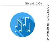 music  notes icon. disco  dance ... | Shutterstock .eps vector #671252770