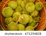 Durian Is In The Basket