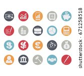 business and finance icons set. ... | Shutterstock . vector #671258518