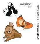 cute animals  part 2  parent...   Shutterstock .eps vector #671264638