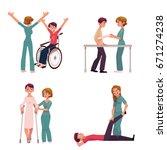 medical rehabilitation ... | Shutterstock .eps vector #671274238