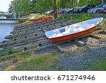 kotka  finland   july 12  2014  ... | Shutterstock . vector #671274946