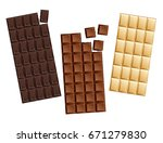 dark and milk candy chocolate... | Shutterstock .eps vector #671279830