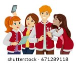 illustration featuring a group... | Shutterstock .eps vector #671289118