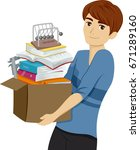 illustration featuring a young... | Shutterstock .eps vector #671289160