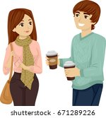 illustration featuring a young... | Shutterstock .eps vector #671289226